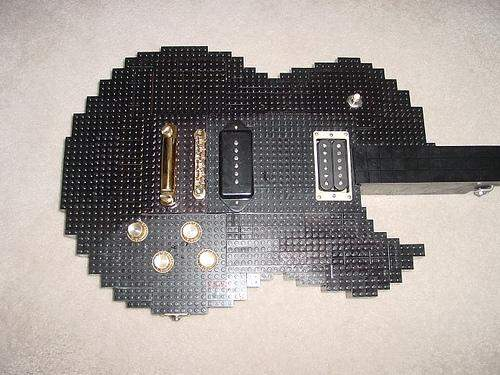 les paul guitar of lego