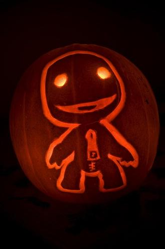 little big planet sackboy pumpkin face