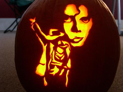 michael jackson tribute pumpkin face