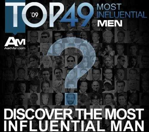 most influential men 2009