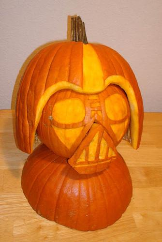 new darth vader pumpkin face