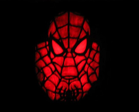 new spiderman pumpkin