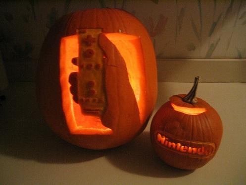 nintendo wii pumpkin carving