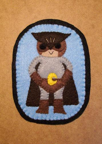 cool nite owl felt badge