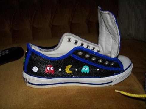 cool converse pacman shoes