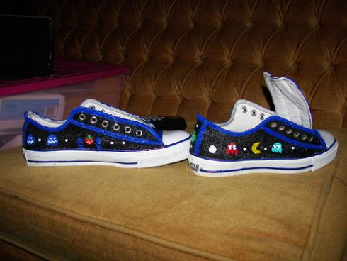 cool pacman converse shoes