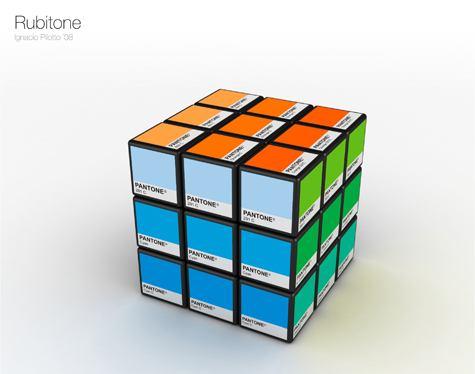 pantone color pallet rubik's cube