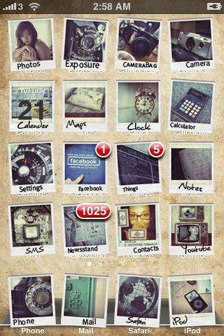polaroid iphone theme