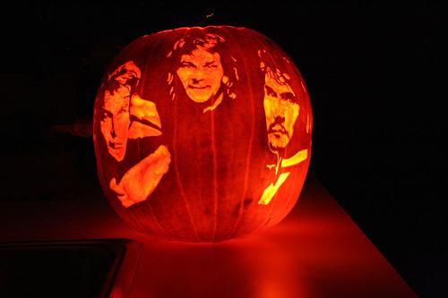 pumpkin faces patrick swayze