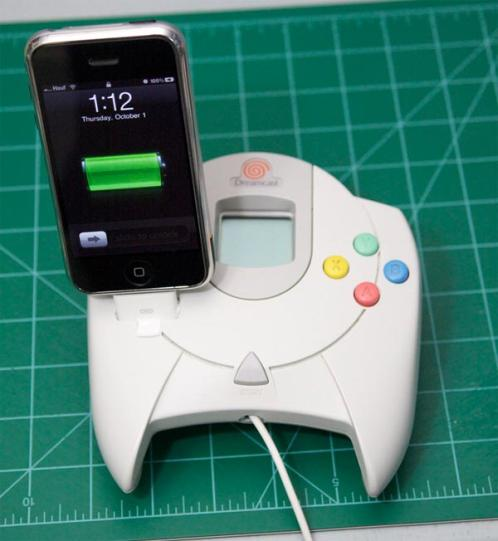 sega dreamcast iphone dock mod