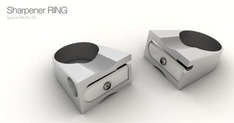 cool sharpener ring design