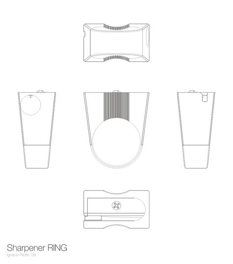 pencil sharpener ring design