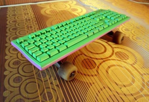 skateboard computer keyboard