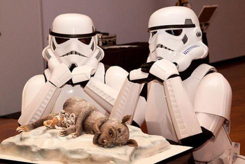star wars cake tauntaun