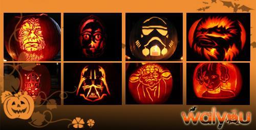 star wars halloween pumpkin carvings