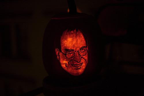 steve jobs pumpkin face