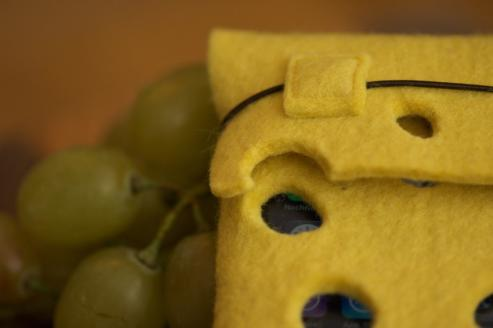 swiss cheese iphone pouch