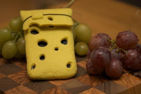 swiss cheese iphone sleeve