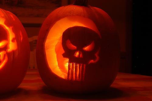 the punisher pumpkin face