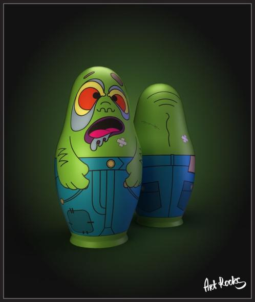 the zombies nesting dolls