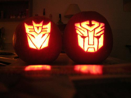 transformers autobots decepticons pumpkin faces