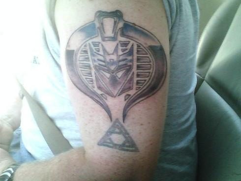 transformers tattoo with cobra