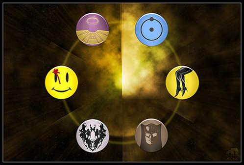cool watchmen buttons