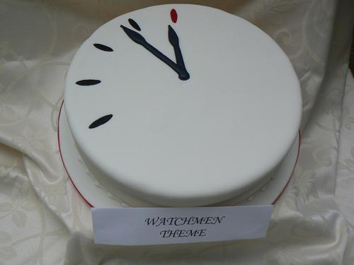 watchmen doomsday clock cake
