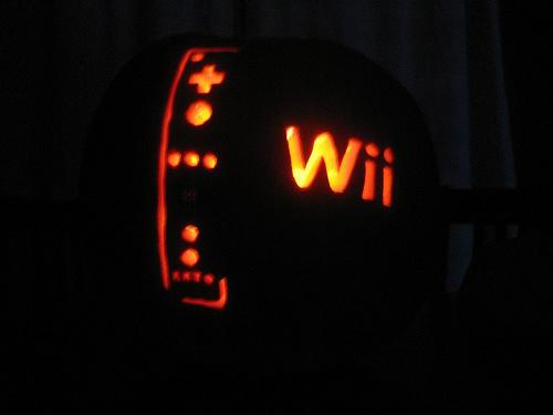 wii console pumpkin carving