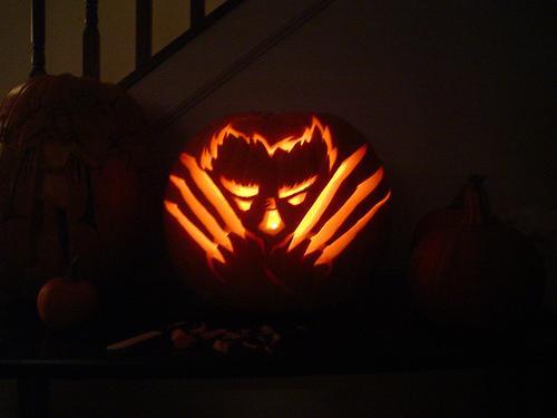 wolverine pumpkin face
