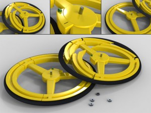 Anti-Theft Collapsible Bike Wheel