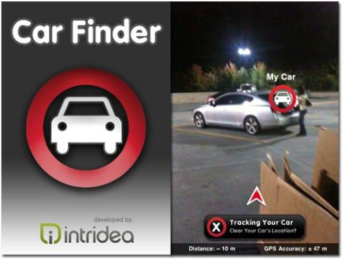 Car finder iPhone app