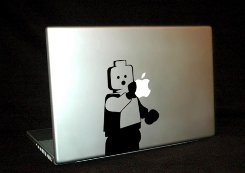 lego figure macbook cover design