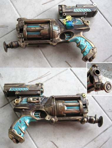 Nerf Maverick Steampunk Gun