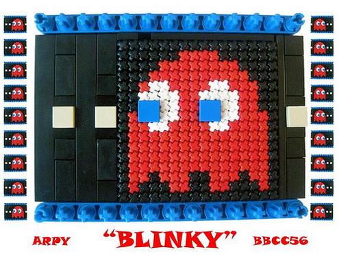 Pacman Blinky mosaic
