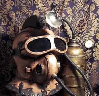 Steampunk Underground Explorer Helmet