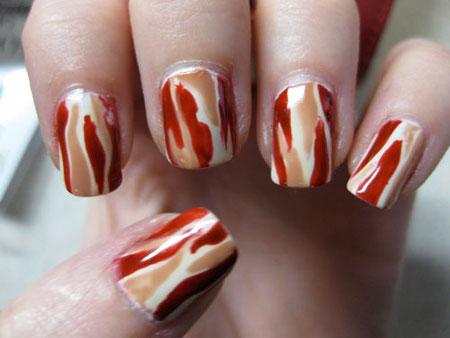 bacon nails design