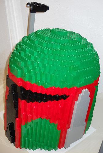 boba fett lego brick helmet
