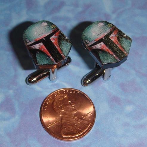 boba fett star wars cufflinks