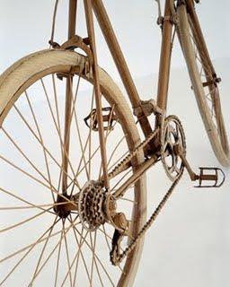 cardboard bicycle art