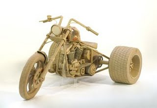 motorcycle cardboard art