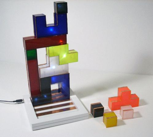 cool tetris game lamp