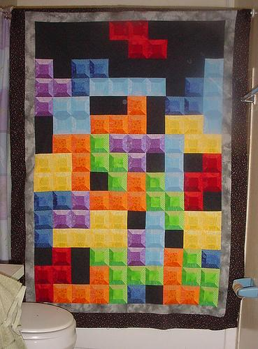 cool tetris quilt design
