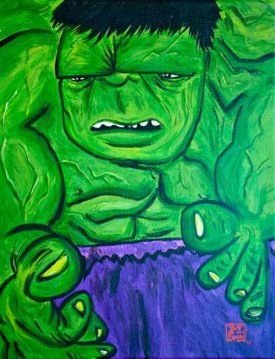hulk picasso drawing