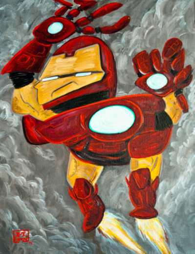 iron man picasso drawing