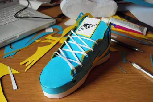nike shoes papercraft design