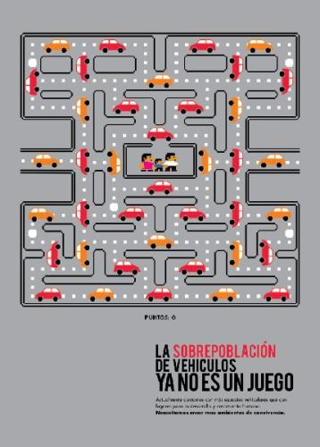pacman game car poster