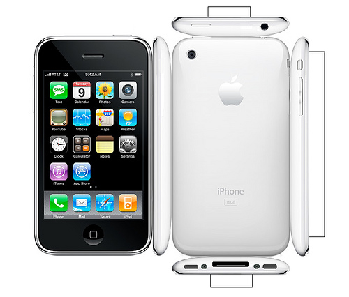 paper iphone 3g 16gb white