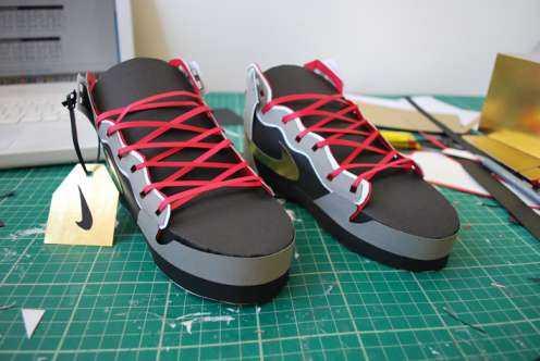 paper nike shoe design