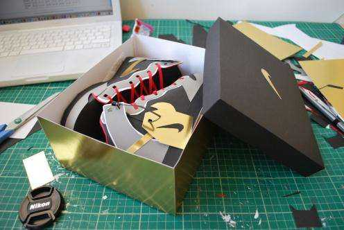 papercraft nike shoes